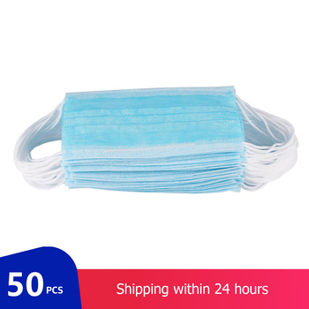 50pcs Disposable Mask 3-Layer Non-Woven Anti Infection Protective Mask Prevent PM2.5 Anti Dust Mouth Face Mask