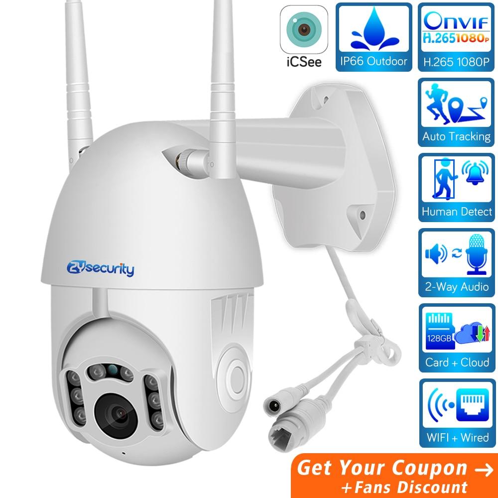 ZY HD 1080P Wifi Mini PTZ IP Camera Outdoor Wireless Speed Dome CCTV Security Camera Onvif 2MP IR Home Surveillance Cameras P2P