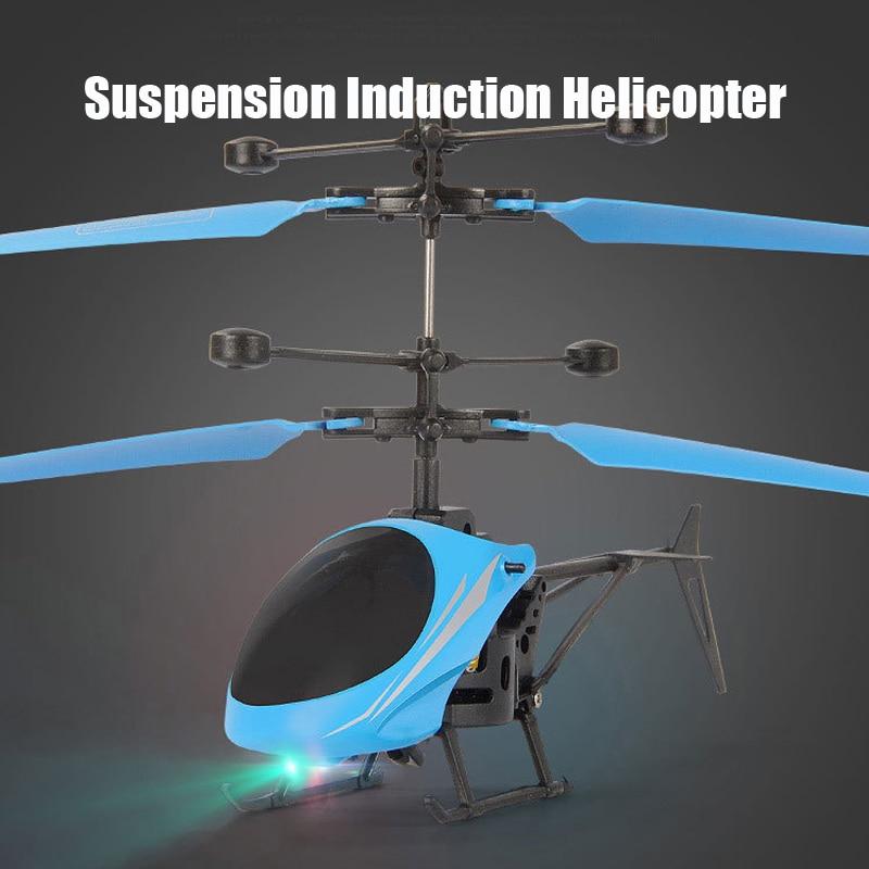 Mini RC Drone hélicoptère infrarouge Induction 2 canaux électronique drôle Suspension Dron avion quadrirotor petit drohne enfants jouets 2