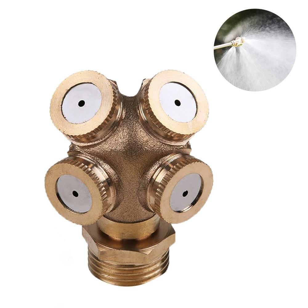 Brass Atomizing Spray Nozzle Garden Sprinkler Adjustable Heads Water Connector