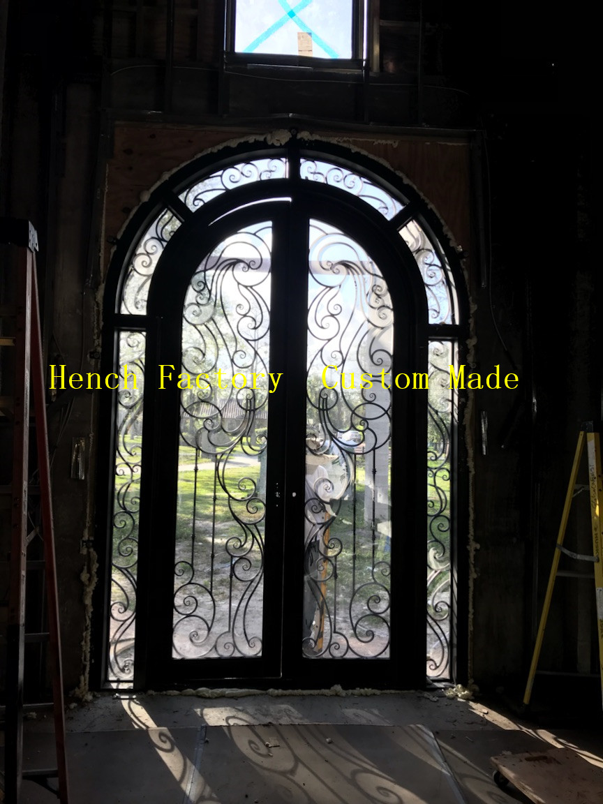 Shanghai Hench Brand China Factory 100% Custom Made Sale Australia Wood And Iron Doors Exterior