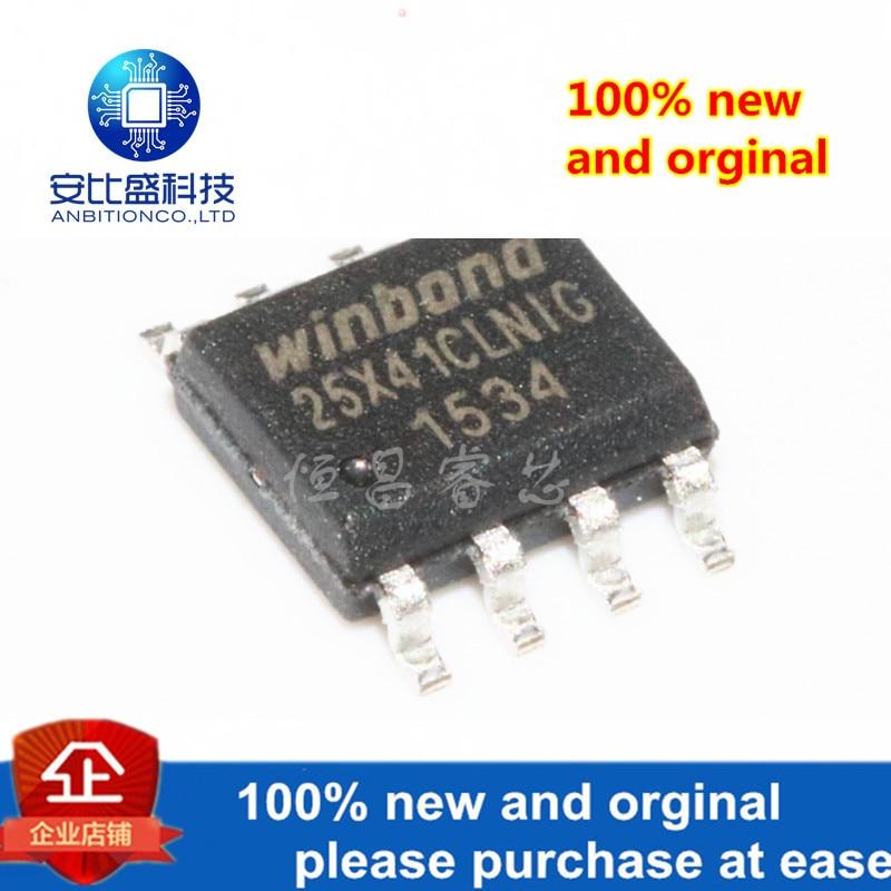 10pcs 100% New And Orginal W25X41CLSNIG Silk-screen  25X41CLNIG 4Mbits SOP8 In Stock