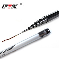 FTK 99% Carbon Pole Fishing Rod for 5m,6m,7m,8m,9m Super hard Hand Rod C.W. 10 30g for Freshwater Fishing