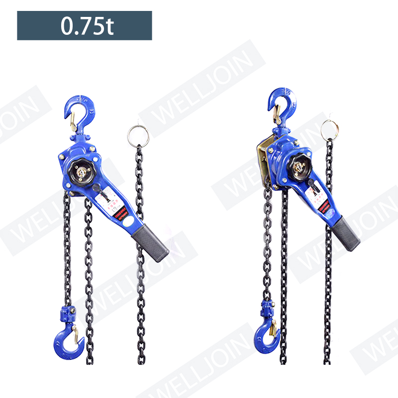 0.75 T Pulling Wrench Hoist Manual Lifting Chain Hoist Hand Chain Hoist Hook Portable Lever Block Inverted Chain Hoist Tightener
