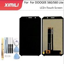 5.2 inç Doogee S60 S60 Lite LCD ekran + dokunmatik ekran 100% orijinal test LCD Digitizer cam Panel yedek Doogee s60