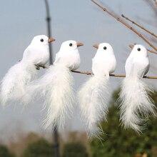 Имитация перьев птица белый голубь искусственный пенный голубь свадебное украшение сцена макет дома рождественские принадлежности украшения