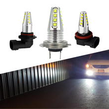 цена на 2PCS H11 H7 LED Car Bulbs Auto LED Fog Lamp H8 9005 hb3 9006 hb4 h4 DRL Daytime Running External Lights Driving Lamp White 12V