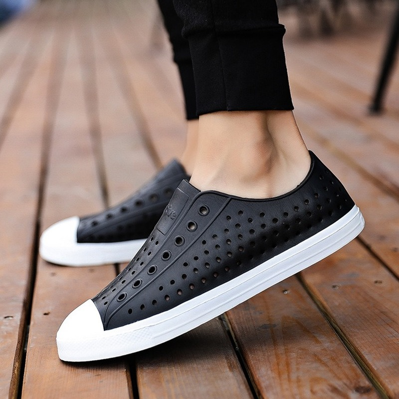 2019 Frank Native Men Summer Clogs Sandals Couple Slip-proof Soft Sandalias Hombre Adult Hollow-out Beach Shoes Waterproof 36-45