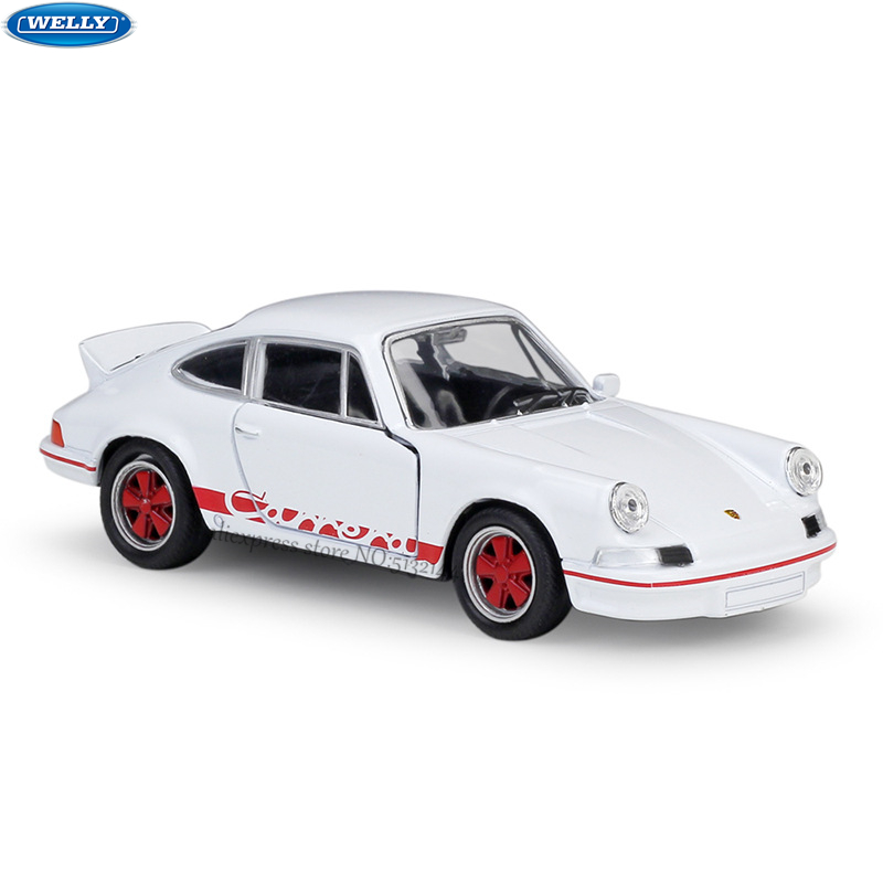 WELLY 1:36 1973 Porsche Carrera RS Alloy Car Model Machine Simulation Collection Toy Pull-back Vehicle Gift Collection