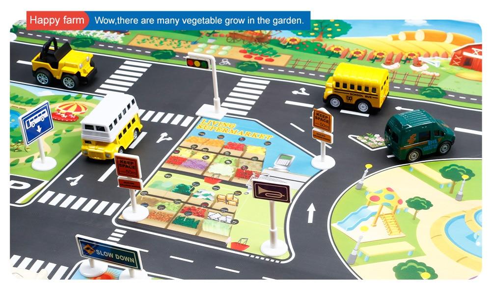 Hb7fb0c9a197b4f8a92c378c92e172876K Large City Traffic Car Park Mat Play Kids Rug Developing Baby Crawling Mat Play Game Mat Toys Children Mat Playmat Puzzles GYH