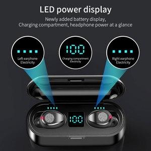 Image 2 - FLOVEME Bluetooth Earphone TWS 5.0 Wireless Earphone LED Display Headphones For Xiaomi 2200mAh Fingerprint Touch Earbuds Headset
