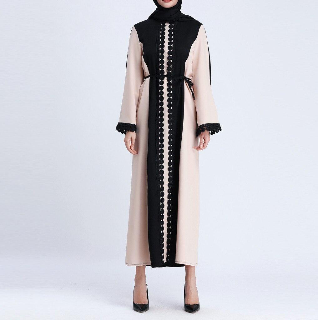 Muslim Open Abaya Dress Elegant Lace Cardigan Robes Kimono Jubah Ramadan Arabic Long Sleeve Turkish Islamic Prayer Clothing 11.4