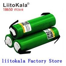 Liitokala Max 40A darbe 60A orijinal 3.6V pil 18650 şarj edilebilir VTC5A 2600mAh yüksek drenaj 40A pil + DIY nick