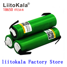 Liitokala Max 40A impulsion 60A Original 3.6V batterie 18650 rechargeable VTC5A 2600mAh haute vidange 40A batterie + bricolage Nick