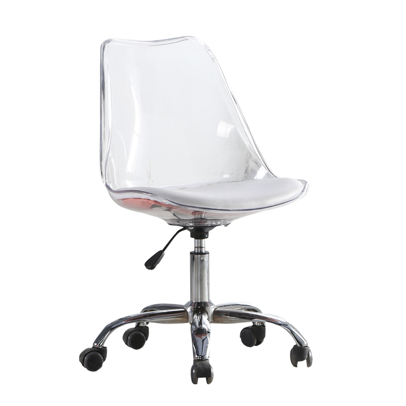 Nordic Computer Chair Swivel Lift Home Small Apartment Chair Creative Simple Small Transparent Study Office Chair