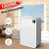 1L Adjutable Auto Dry Sleep Modes Home Dehumidifier Air Dryer Moisture Absorber Electric Cooling Dryer For Home Bedroom Kitchen