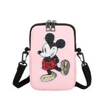 Disney minnie модная женская сумка-мессенджер на плечо, женская сумка для монет, сумка для покупок