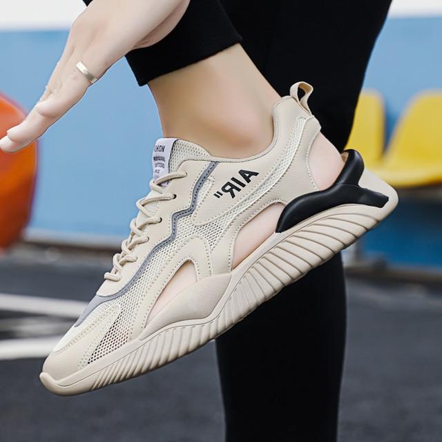 QGK-Sandalias deportivas transpirables para hombre, zapatos informales antideslizantes, para exteriores y playa, para verano 6