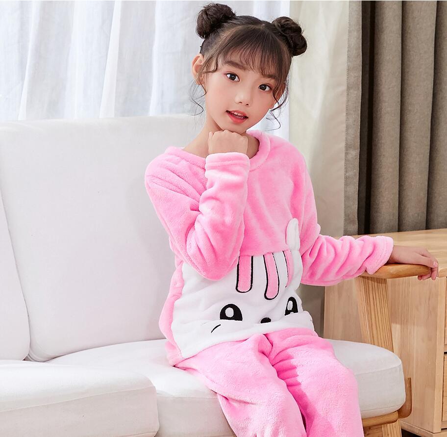 Новинка года; зимняя детская флисовая Пижама; теплая фланелевая одежда для сна; домашняя одежда для девочек из кораллового флиса; детская пижама; домашняя одежда; Пижама для мальчиков - Цвет: model 6