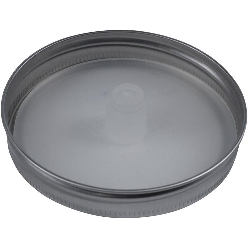 4Pcs Waterless White Food Grade Silicone Fermentation Airlocks Lids Fermenting Covers Kit Bands For Wide Mason Jars Sealing Leak