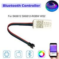 Ws2812b ws2811 endereçável led controlador bluetooth ios android app controle remoto sem fio dc 5 v 12 12 v para sk6812 SK6812 RGBW ws2|Controladores RGB| |  -