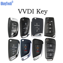 цена на OkeyTech VVDI Key 3 Button Smart Car Key Card Handheld Universal Remote Wireless/Wire for VVDI MINI Key Tool Key Programmer