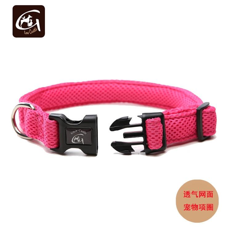 Pet Export Sandwich Double Layer Mesh Neck Ring Adjustable Dog Pet Collar