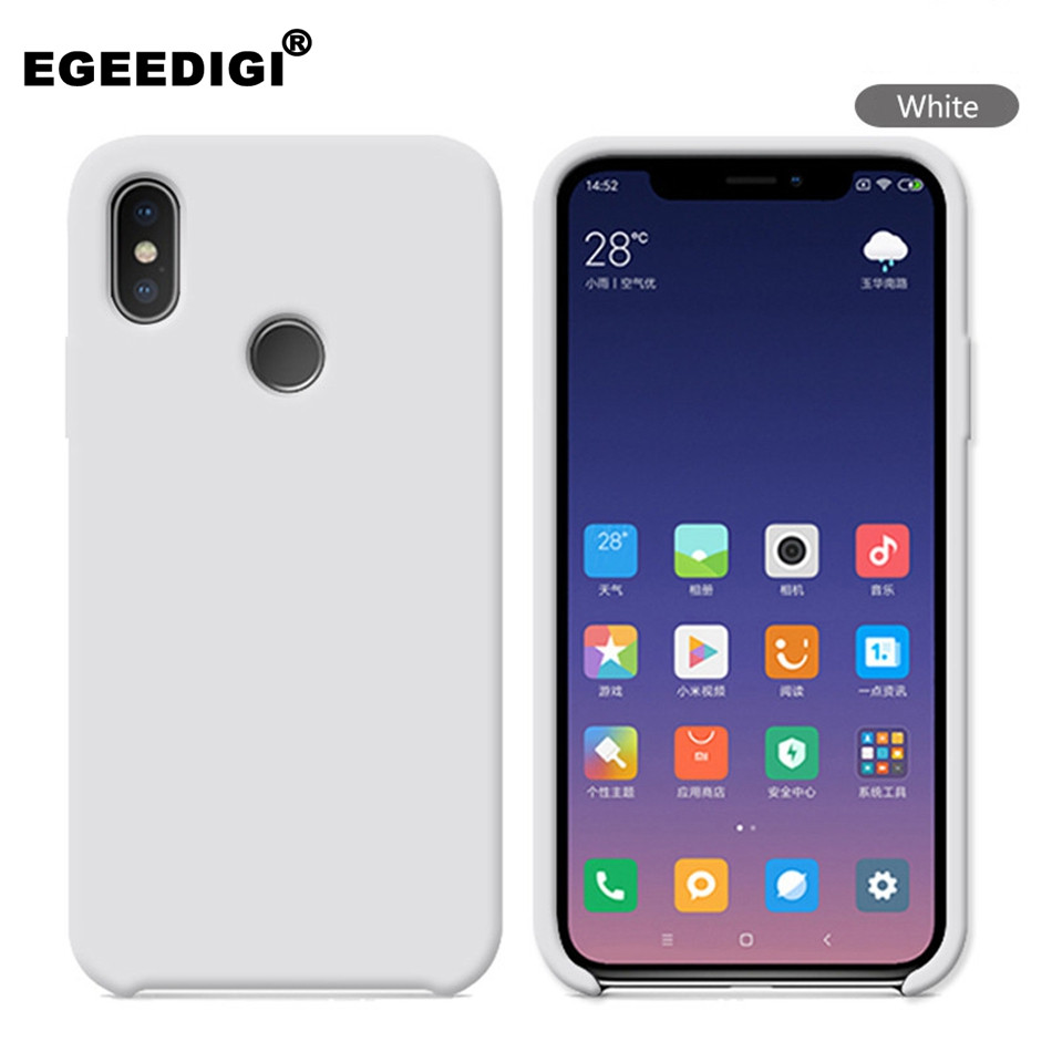 Liquid silicone <font><b>Funda</b></font> Cover For <font><b>Xiaomi</b></font> A2 lite Note 4X 5 6 7 Pro Skin Soft-Touch Case For <font><b>Xiaomi</b></font> <font><b>Mi</b></font> 6 6X 8 9 SE With Retail Box image