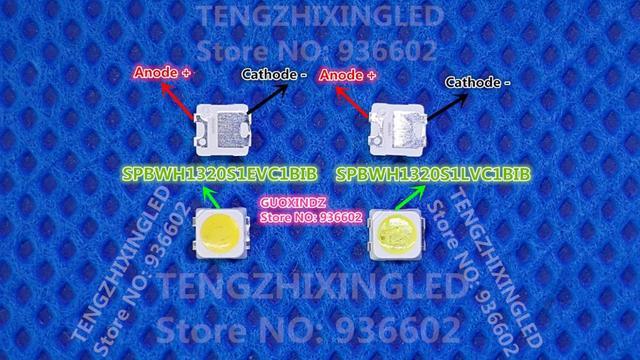 لسامسونج LED LCD الخلفية التلفزيون تطبيق LED الخلفية TT321A 1.5 واط 3 فولت 3228 2828 كول الأبيض LED LCD التلفزيون الخلفية