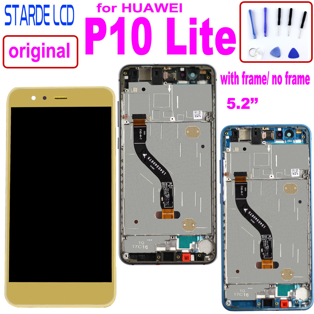 Original 5.2 Inch LCD For HUAWEI P10 Lite Lcd Display Touch Screen P10 Lite Screen Replacement WAS-LX1 WAS-LX1A WAS-LX2 WAS-LX3