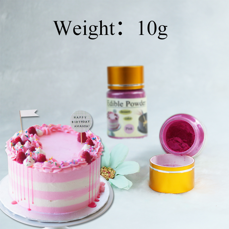 Edible Food Coloring Pink Food Powder 10g In Baking&Pastry Cake Decorations Chocolate Colorant Comestibles Baking Ingredient