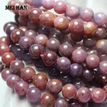 Meihan naturale Birmania rosso rubyy 9 millimetri + 0.2 (1 braccialetto/set) liscio branelli allentati rotondi di pietra per monili che fanno