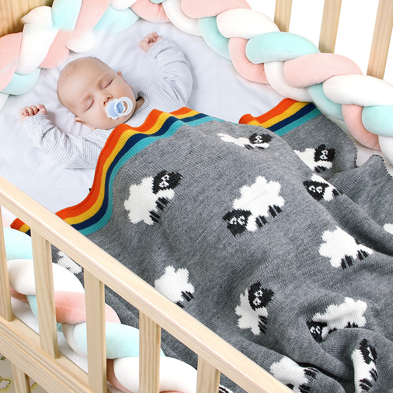 1pc 80*80cm Baby Sleeping Blanket Cartoon Knitted Newborn Stroller Bedding Baby Toys Quilt Toddler Swaddling Wrap Baby Products
