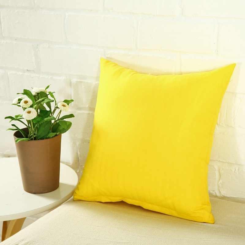 固体スエード枕セットベッド抱擁枕ケースリビングかわいいキャンディーカラー多色枕ケースクッション 40/45/ 50/55/60 センチメートル