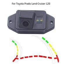 Ночное видение динамический траектории Автомобильная камера заднего вида для Toyota Land Cruiser 120 серии Toyota Prado 2700 400 2002-2009