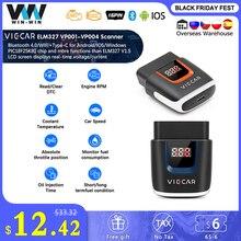 Viecar ELM 327 Scanner de code de voiture, outil de Diagnostic automobile, pour Android/IOS, câble OBD2, version V2.2 VP003 PIC18F25K80, WIFI, prise OBD2