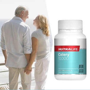 Nutralife Celery Seed oil 10000mg 60Capsules Supplement for Arthritis Gout Rheumatism Relief Diuretic Fluid Retention Treatment image