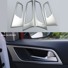 4pcs/set Car interior Door Handle Decoration Trim Frame Doors Bowl For Hyundai Tucson 2015 2016 2017 2018 Accessories
