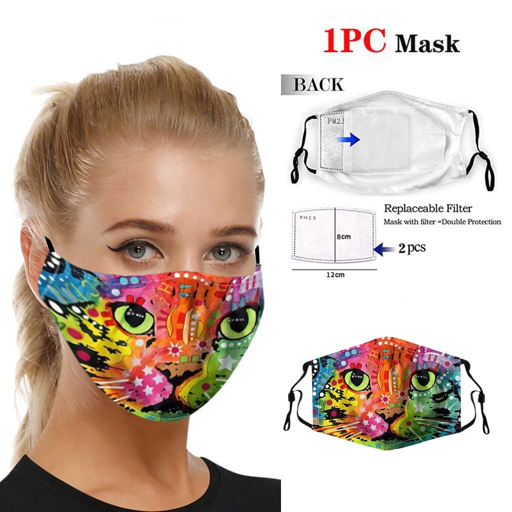 Colorful Star Cat Face Mask