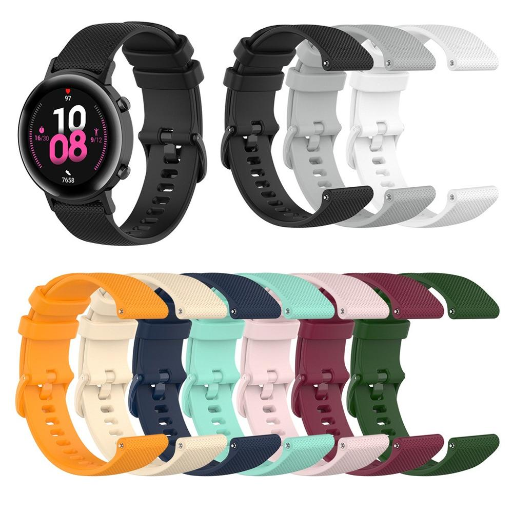 For Huawei Watch GT2 42 MM Fashion Silicone Replacement Watch Band Wrist Strap Replacement Watch Band Women Men Sports Bracelet