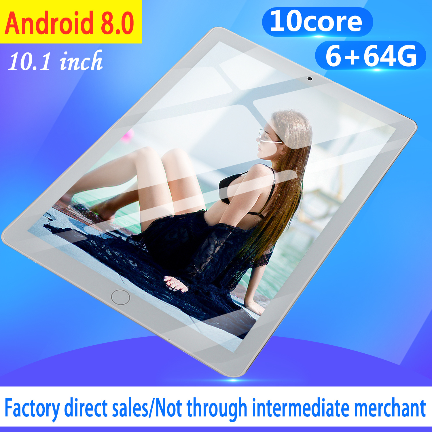 2020 10 Inch Tablet Android 8.0 Tablet Pc 4GB/64GB Bluetooth WiFi Quad Core Tablet 4G Phone Tablet Android 8.0 Tab