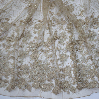 2020 3d flower embroidery tulle fabrics dubai fabric embroidery fabric designHY0771-7