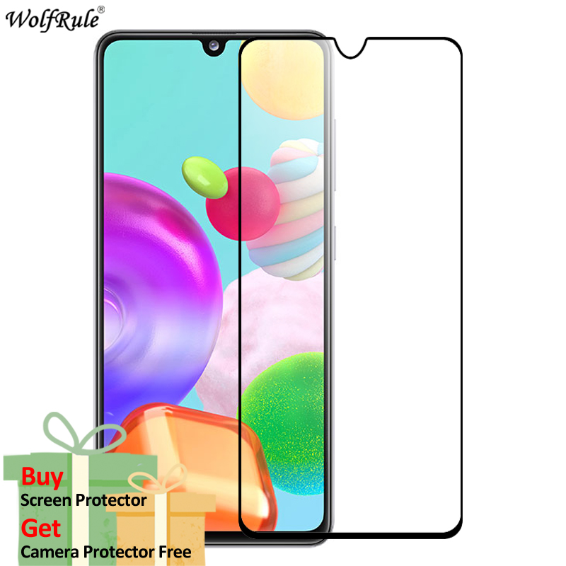 2Pcs Screen Protector For Samsung Galaxy A41 Tempered Glass HD Full Glue Cover Protective Phone Film For Samsung A41 Glass 6.1''