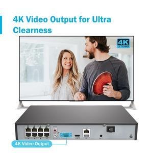 Image 2 - ANNKE 8CH 4K Ultra FHD POE сетевая система видеонаблюдения 8MP H.265 NVR с 4X 8MP Всепогодная ip камера видеонаблюдения