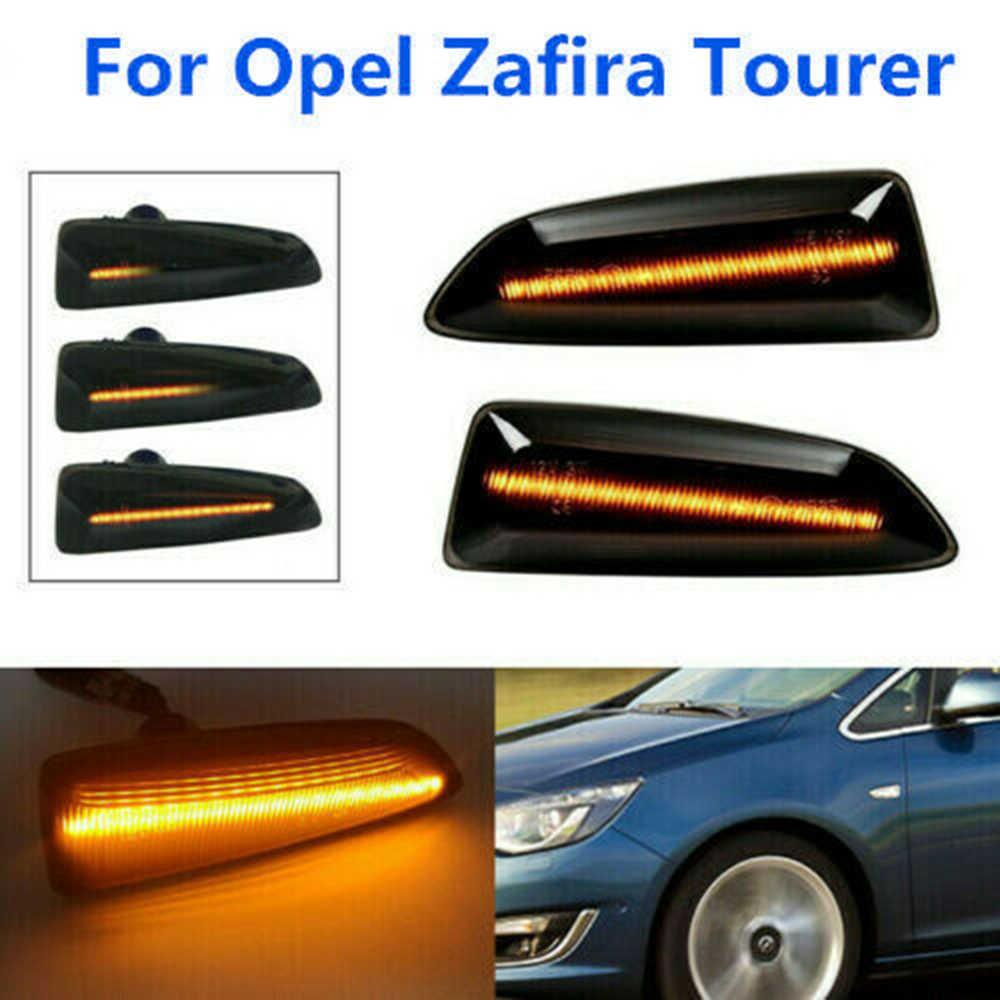 ตัวบ่งชี้เปิดไฟสัญญาณสำหรับ Opel Zafira Tourer Amber Sequential ไหลด้านข้าง MARKER
