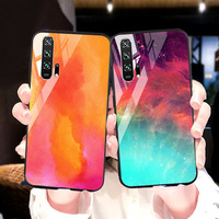 silicone case Tempered Glass Case For Huawei honor 20 9 10 lite Cases Space Silicone Covers for Huawei honor 20 pro 10 9 V20 back cover (1)