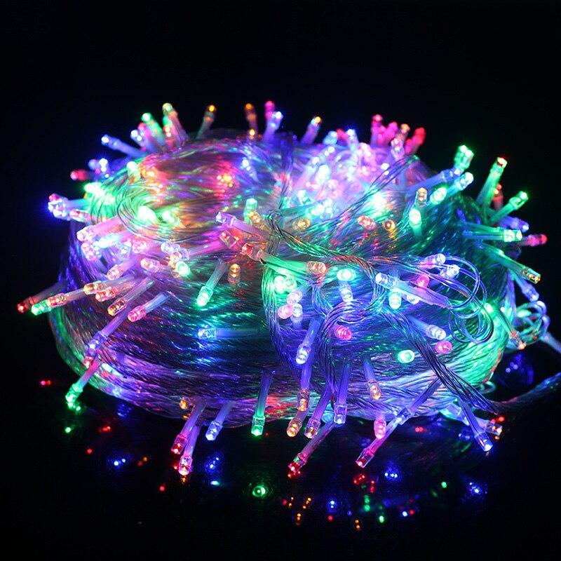Guirlanda led string rua festão ao ar livre luzes de fadas 10 20 30 50 100m casamento decoração para casa festival festa de natal decoração