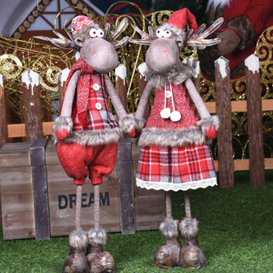 Red Clothes Girl Standing Figures Christmas Decorations for Home Christmas Dolls Thanksgiving New Year Birthday Presents