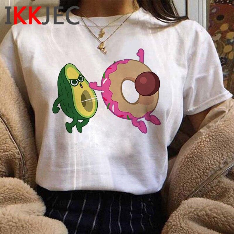 Avocado Kawaii Anime T-shirt Women Cute Funny Cartoon Tshirt Aesthetic Korean Style T Shirt Summer Graphic Top Tees Shirt Female