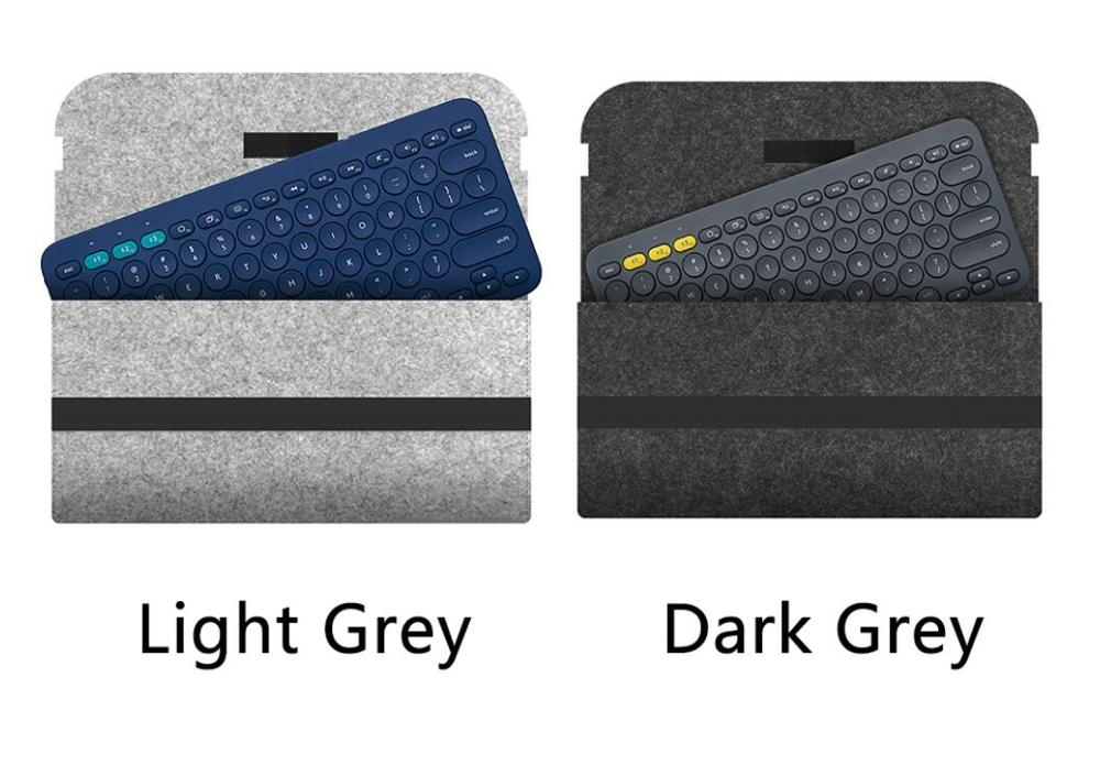 Anti Shock Keyboard Bag Compact Flexible Portable Travel Accessories Felt Protective Cover Carrying Case For Logitech K380 K480